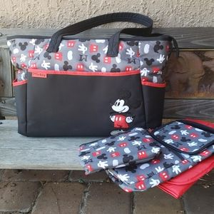 Disney baby Mickey Mouse 4pc. Diaper or tote bag